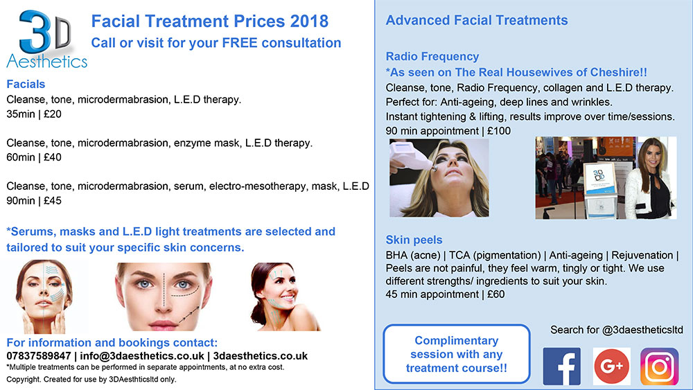 Facial treatments 3d lipo