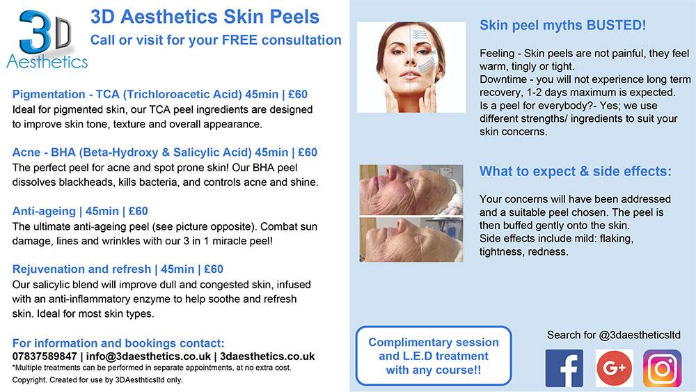 skin peels 3d lipo